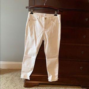LOFT modern skinny white jeans
